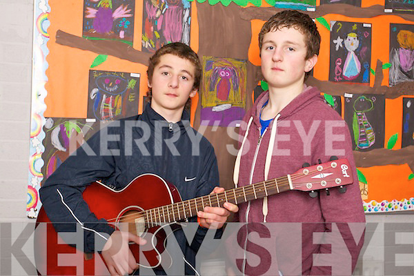 Scartaglin Youth Club members Shay Walsh and Jack Walsh, pictured at the Primary School's Youth Factor in association with the KDYS on Saturday last..