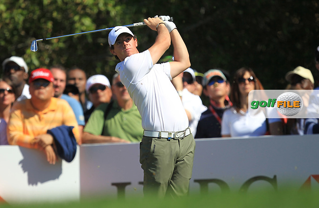 Rory McIlroy (NIR) on the 4th during the second round at the Abu Dhabi HSBC Golf Championship in the Abu Dhabi golf club, Abu Dhabi, UAE..Picture: Fran Caffrey/www.golffile.ie.