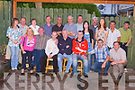Summer Party in Kilflynn: Staff of Ansaldo STS Company Monavalley, Tralee, held their summer party at Parkers Bar, Kilflynn, on Friday night last. First row l-r: Marion Wrenn, Tom Moriarty, Colin O' Sullivan, Damian Dowling, Pat Walsh, Mark Teahan, John Long. Second row l-r: Catherine Quirke, George O'Connell, Ann Kerrisk, John O'Brien, Billy Cashman, Jimmy Laide, Joe Quirke, Claire Laide, Eamon Prendeville, Norma O'Connell, Mike Cashman, John Quigley..