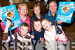 Cuckoo for walking: Launching the Tarbert Cuckoo Walking Festival was Patricia Langan, Joan Murphy and Michael Langan at the Tarbert Bridewell with young walkers James Enright, Matthew Finucane and Aine Enright.