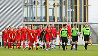 20191101 - Tubize: both teams entering the pitch  pictured during the international friendly match between Red Flames U16 (Belgium) and Norway U16 on 1 November 2019 at Belgian Football Centre, Tubize. PHOTO:  SPORTPIX.BE   SEVIL OKTEM