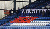 Oldham Athletic's fans put up a banner as it reads * 22 Never forgotten* ahead of the Sky Bet League 1 match between Oldham Athletic and Rotherham United at Boundary Park, Oldham, England on 13 January 2018. Photo by Juel Miah / PRiME Media Images.