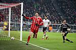 20.02.2018, Allianz Arena, München, GER, UEFA CL, FC Bayern München (GER) vs Besiktas Istanbul (TR) , im Bild<br />Robert Lewandowski (München) freut sich über das Tor zum 4:0<br /><br /><br /> Foto © nordphoto / Bratic