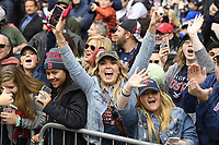October 31, 2018: Fans line the streets and celebrate during the Boston Red Sox 2018 World Series championship parade held in Boston, Mass.  Eric Canha/CSM