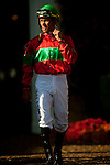 Jockey, Garrett Gomez before the Clement L. Hirsch Stakes at Del Mar Race Course in Del Mar, California on August 4, 2012.