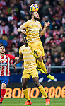David Timor Copovi of Girona FC heads the ball during the La Liga 2017-18 match between Atletico de Madrid and Girona FC at Wanda Metropolitano on 20 January 2018 in Madrid, Spain. Photo by Diego Gonzalez / Power Sport Images