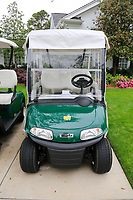 EZgo cart parked up at the Augusta National Womans Amateur 2019, Champions Retreat, Augusta, Georgia, USA. 05/04/2019.<br /> Picture Fran Caffrey / Golffile.ie<br /> <br /> All photo usage must carry mandatory copyright credit (© Golffile   Fran Caffrey)