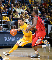 Justin Cobbs of California dribbles the ball during the game against Arizona at Haas Pavilion in Berkeley, California on February 2nd, 2012.  Arizona defeated California, 78-74.