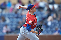 Buffalo Bison starting pitcher Ryan Borucki (54) in action against the Durham Bulls at Durham Bulls Athletic Park on April 25, 2018 in Allentown, Pennsylvania.  The Bison defeated the Bulls 5-2.  (Brian Westerholt/Four Seam Images)