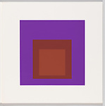 Print, Palatial, Homage to the Square, Soft Edge &ndash; Hard Edge, 1965; Designed by Josef Albers (German, 1888&ndash;1976, active USA, 1933&ndash;1976); USA; screenprint on white paper; 43.2 &times; 43.2 cm (17 &times; 17 in.); Gift of the Museum of Graphic Art, New York; 1973-39-108; Cooper Hewitt, Smithsonian Design Museum<br />
