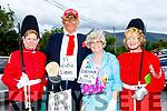 L-R Helen Ní Gearaut, Michael Cleary ( Donald Trump ) Marguerite Russel ( The Queen of England ) and Máire Áine Uí Mhurchú taking part in the Féile Lughnasa parade last Sunday.