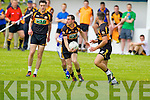 Eddie Mangan Shannon Rangers in action against  TJ HoganAustin Stacks in the First Round of the Kerry Senior Football Championship at O'Rahilly Park Ballylongford on Sunday.