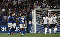 International friendly football match France vs Italy, Allianz Riviera, Nice, France, June 1, 2018. <br /> Italy's Captain Leonardo Bonucci celebrates after scoring with his teammates during the international friendly football match between France and Italy at the Allianz Riviera in Nice on June 1, 2018.<br /> UPDATE IMAGES PRESS/Isabella Bonotto