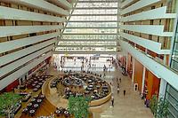 The lobby of the Marina Bay Sands resort hotel.