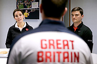 31 October 2017 - Princess Kate, Duchess of Cambridge listens during a briefing from representatives of the LTA during a visit at the Lawn Tennis Association (LTA) at the National Tennis Centre in southwest London. Duchess of Cambridge visited the LTA, the national governing body of tennis, where she was briefed on the organisations latest activities and objectives, and had the opportunity to watch a number of tennis demonstrations at the National Tennis Centre's on-court facilities. Photo Credit: ALPR/AdMedia