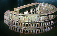 Italy: Rome--Model, Theatre of Marcellus. Reference only.