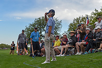 Kevin Streelman (USA) reacts to his chip shot on to 18 during day 4 of the Valero Texas Open, at the TPC San Antonio Oaks Course, San Antonio, Texas, USA. 12/31/2013.<br /> Picture: Golffile | Ken Murray<br /> <br /> <br /> All photo usage must carry mandatory copyright credit (© Golffile | Ken Murray)