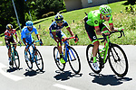 The breakaway group Dylan Van Baarle (NED) Cannondale-Drapac, Marco Minnaard (NED) Wanty Groupe-Gobert, Julien El Fares (FRA) Delko Marseilles Provence KTM and Polka Dot jersey wearer Koen Bouwman (NED) Lotto NL-Jumbo 5'15&quot; ahead during Stage 5 of the Criterium du Dauphine 2017, running 175.5km from La Tour-de Salvagny to Macon, France. 8th June 2017. <br /> Picture: ASO/A.Broadway | Cyclefile<br /> <br /> <br /> All photos usage must carry mandatory copyright credit (&copy; Cyclefile | ASO/A.Broadway)