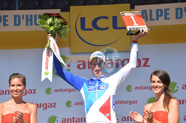 Alexandre GENIEZ (FRA) FDJ wins the combativity prize for Stage 20 of the 2015 Tour de France running 110.5km from Modane Valfrejus to Alpe d'Huez, France. 25th July 2015.<br /> Photo: ASO/G.Demouveaux/Newsfile