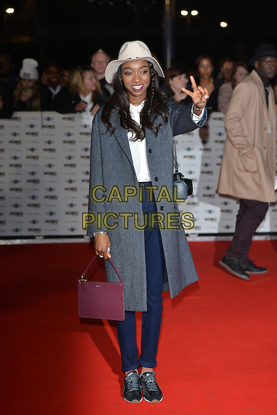 LONDON, ENGLAND - OCTOBER 22: Little Simz (Simbi Ajikawo) attends the MOBO Awards at SSE Arena on October 22, 2014 in London, England. <br /> CAP/PL<br /> &copy;Phil Loftus/Capital Pictures