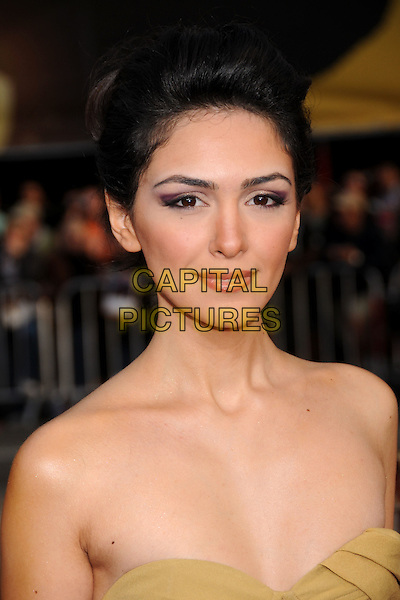 "NAZANIN BONIADI.""Iron Man"" Los Angeles Premiere at Grauman's Chinese Theatre, Hollywood, California, USA..April 30th, 2008.headshot portrait strapless .CAP/ADM/BP.©Byron Purvis/AdMedia/Capital Pictures."