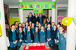 "Junior Entrepreneur Programme: Miss Kay O'Connor's class , Listowel Presentation primary school displaying their images of Listowel on postcards & greeting cards that they designed called ""Listowel Through Our Eyes""."