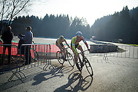 Laurens Sweeck (BEL/Corendon-Kwadro) followed by Quinten Hermans (BEL/Telenet-Fidea)<br /> <br /> Superprestige Francorchamps 2014