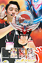 An exhibitors gives an demonstration of the Ultraman Orb DX Orb Ring at the International Tokyo Toy Show 2016 in Tokyo Big Sight on June 9, 2016, Tokyo, Japan. The annual exhibition showcases some 35,000 toys from 160 toy makers from Japan and overseas. The show runs to June 12th and organisers expect to attract 160,000 visitors. (Photo by Rodrigo Reyes Marin/AFLO)
