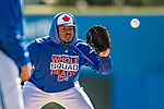 6 March 2019: Toronto Blue Jays top prospect infielder Vladimir Guerrero Jr. warms up prior to a Spring Training game against the Philadelphia Phillies at Dunedin Stadium in Dunedin, Florida. The Blue Jays defeated the Phillies 9-7 in Grapefruit League play. Mandatory Credit: Ed Wolfstein Photo *** RAW (NEF) Image File Available ***