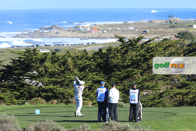 Graeme McDowell (NIR) in action at Spyglass Hill Golf Course during the third round of the AT&amp;T Pro-Am, Pebble Beach Golf Links, Monterey, USA. 09/02/2019<br /> Picture: Golffile | Phil Inglis<br /> <br /> <br /> All photo usage must carry mandatory copyright credit (&copy; Golffile | Phil Inglis)