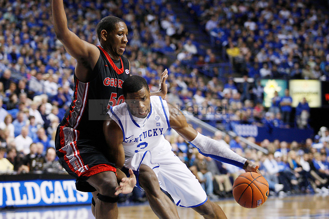 Terrence Jones drives to the net in the second half of the UK men's basketball win over against the Georgia Bulldogs at Rupp Arena  on Jan. 18, 2011. Photo by Britney McIntosh   Staff