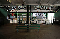 Entry way to Rickwood Field, the oldest surviving professional baseball park in the United States, first opening on August 18, 1910, as home for the Birmingham Barons.  Image taken on April 16, 2013 in Birmingham, Alabama.  (Mike Janes/Four Seam Images)