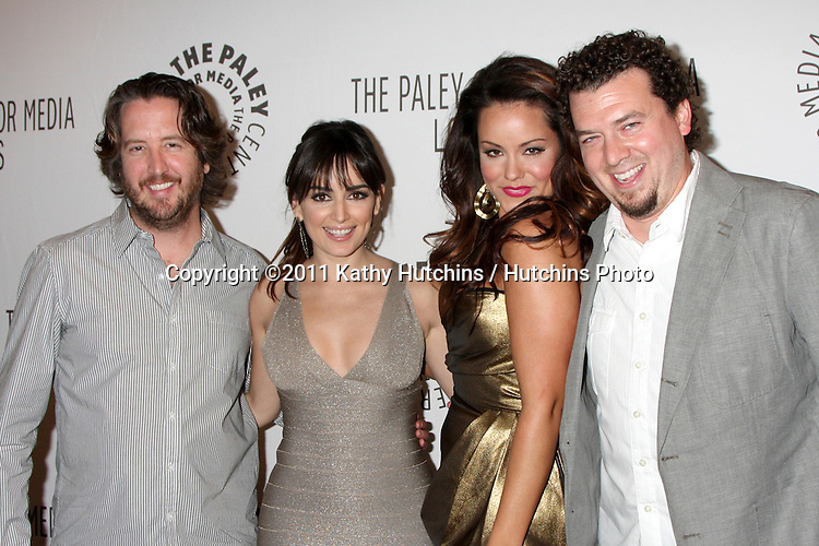 "LOS ANGELES - MAR 10:  Steve Little, Ana de la Reguera, Katy Mixon, Danny McBride arriving at the ""Eastbound & Down "" PaleyFest 2011 at Saban Theatre on March 10, 2011 in Beverly Hills, CA"