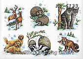 Interlitho-Theresa, CHRISTMAS ANIMALS, WEIHNACHTEN TIERE, NAVIDAD ANIMALES, paintings+++++,wood animals,KL6133,#xa# ,sticker,stickers