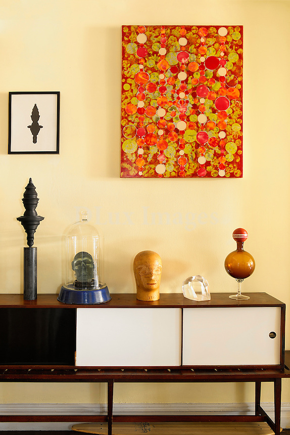 Corner with artworks