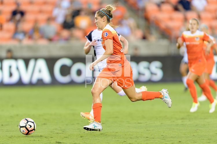 Houston, TX - Saturday July 15, 2017: Morgan Brian during a regular season National Women's Soccer League (NWSL) match between the Houston Dash and the Washington Spirit at BBVA Compass Stadium.