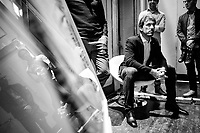 "Fabian Cancellara waiting to go on stage<br /> <br /> Rouleur Classic London 2019<br /> ""The World's Finest Road Cycling Exhibition""<br /> <br /> ©kramon"
