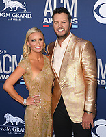 LAS VEGAS, NEVADA - APRIL 07: Caroline Boyer, Luke Bryan attend the 54th Academy Of Country Music Awards at MGM Grand Hotel &amp; Casino on April 07, 2019 in Las Vegas, Nevada. <br /> CAP/MPIIS<br /> &copy;MPIIS/Capital Pictures