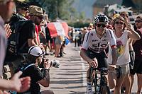 """Michal Kwiatkowski (POL/SKY) coming through """"Dutch Corner"""" (#7) on Alpe d'Huez<br /> <br /> Stage 12: Bourg-Saint-Maurice / Les Arcs > Alpe d'Huez (175km)<br /> <br /> 105th Tour de France 2018<br /> ©kramon"""