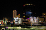 end of an Era with the Implosion of the last 2 towers of the Riviera Hotel and Casino in Las Vegas