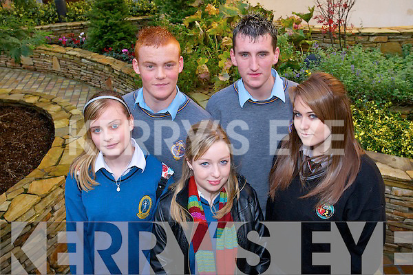 TRANSITION YEAR: Fiona O'Sullivan (Mercy Mounthawk), Robert O'Shea (CBS The Green), Chloe Moriarty (Mercy Mounthawk), Mark Tobin (CBS The Green) and Tara Kelly (Gael Scoil), all transition year students who attended the conference in the Fels Point Hotel on Tuesday.   Copyright Kerry's Eye 2008