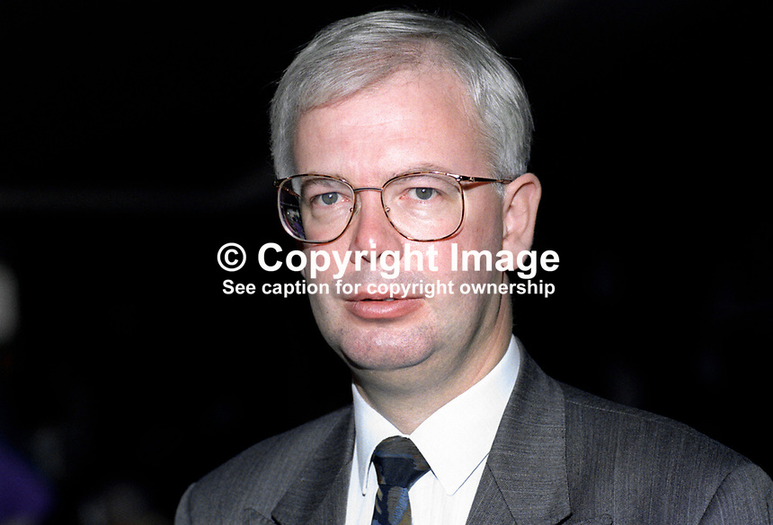 Jim Wallace, MP, Leader, Scottish Liberal Democratic Party, UK, 19920903JW2.<br /> <br /> Copyright Image from Victor Patterson, 54 Dorchester Park, Belfast, UK, BT9 6RJ<br /> <br /> t1: +44 28 9066 1296 (from Rep of Ireland 048 9066 1296)<br /> t2: +44 28 9002 2446 (from Rep of Ireland 048 9002 2446)<br /> m: +44 7802 353836<br /> <br /> e1: victorpatterson@me.com<br /> e2: victorpatterson@gmail.com<br /> <br /> The use of any of my copyright images is subject to my Terms &amp; Conditions.<br /> <br /> It is IMPORTANT that you familiarise yourself with them. They are available on my website, victorpatterson.com.<br /> <br /> None of my copyright images may be used on the Internet unless they are visibly watermarked, i.e. &copy; Victor Patterson within the body of the image. Additionally metadata denoting my copyright must NOT be deleted. <br /> <br /> Web use is extra at currently recommended NUJ rates.