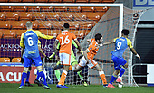 18-12-2018  FAC2 Replay Blackpool v Solihull Moor<br /> <br /> Adi Yussuf, right, scores for Solihull Moor, 2-1