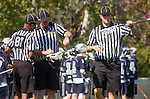 Los Angeles, CA 03/12/16 - Referees in action during the Utah State vs Loyola Marymount MCLA Men's Division I game at Leavey Field at LMU.  Utah State defeated LMU 17-4.