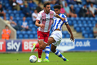 Chris Whelpdale of Stevenage and Mikael Mandron of Colchester United during Colchester United vs Stevenage, Sky Bet EFL League 2 Football at the Weston Homes Community Stadium on 12th August 2017