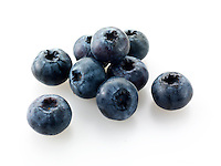 Whole blueberry fruits
