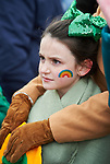 Clara Ryan keeping warm at the St Patrick's Day parade in Killaloe. Photograph by John Kelly.