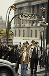 Europe, FRA, France, Paris, Metro Station, Portal, People....[ For each utilisation of my images my General Terms and Conditions are mandatory. Usage only against use message and proof. Download of my General Terms and Conditions under http://www.image-box.com or ask for sending. A clearance before usage is necessary...Material is subject to royalties. Each utilisation of my images is subject to a fee in accordance to the present valid MFM-List...Contact | archive@image-box.com | www.image-box.com ]