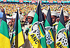 Johannesburg, South Africa: 04.05.2014: ANC ELECTION RALLY<br /> ANC Masupatsela (Pioneers) form a guard of honour at the ANC Siyanqoba Rally held at the FNB Stadium, Johannesburg.<br /> An estimated 94,000 people turned up at Johannesburg's FNB stadium to give the ANC Party an overwhelming support and serve notice that the governing party is cruising to a fifth emphatic victory in a row in Wednesday's election. <br /> General elections in South Africa are contested between parties, not presidential candidates.<br /> Mandatory Credit Photo: &copy;GCIS/NEWSPIX INTERNATIONAL<br /> <br /> **ALL FEES PAYABLE TO: &quot;NEWSPIX INTERNATIONAL&quot;**<br /> <br /> IMMEDIATE CONFIRMATION OF USAGE REQUIRED:<br /> Newspix International, 31 Chinnery Hill, Bishop's Stortford, ENGLAND CM23 3PS<br /> Tel:+441279 324672  ; Fax: +441279656877<br /> Mobile:  07775681153<br /> e-mail: info@newspixinternational.co.uk