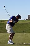Golf: Golf shot sequence (tee shot on an uphill par 3).